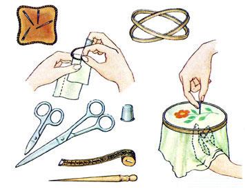 Инструменты и приспособления для вышивания